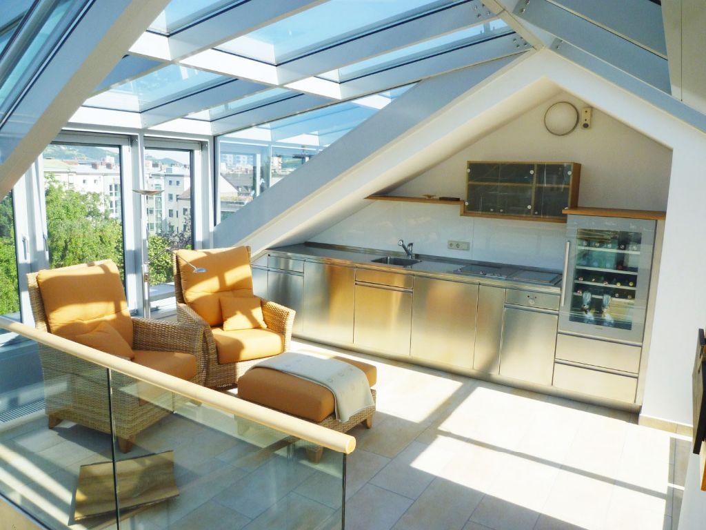 Über den dächern von linz – exklusive penthousewohnung (4020 linz, Wohnzimmer dekoo